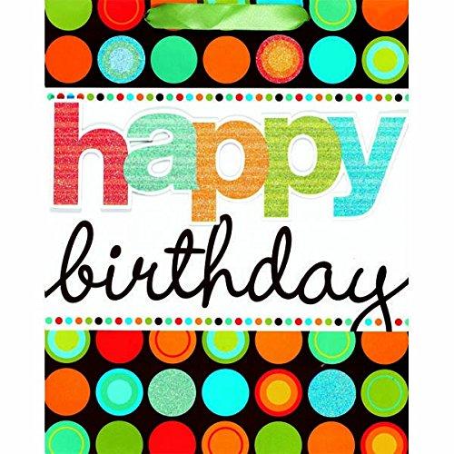 Amscan Fun Modern Birthday Dots Universal Specialty Bag, Mul