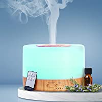 DEVANTI Aroma Diffuser Aromatherapy LED Essential Oil Air Humidifier Purifier 500 ML