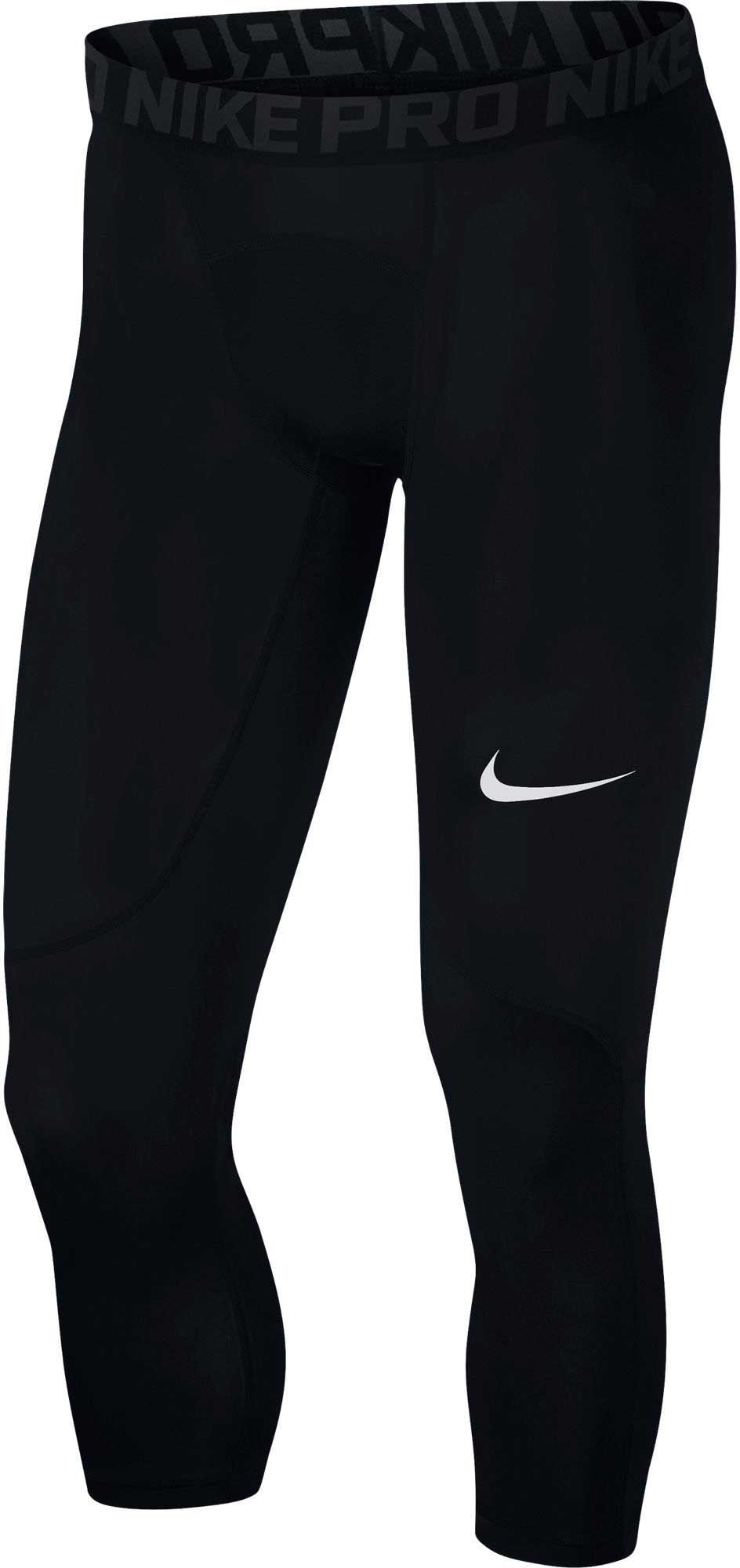 Nike Men's Pro Tights Black/Anthracite/White Size Medium by Nike (Image #1)