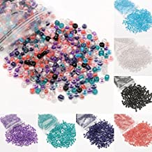 ILOVEDIY 4mm x 3.2mm Czech Glass Transparent Seed Spacer Beads for Jewelry Making 500PCS