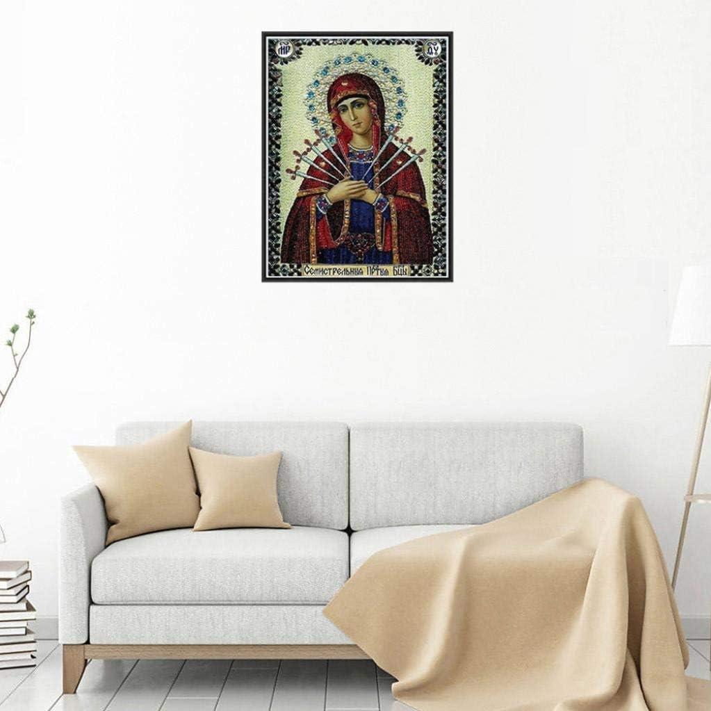 G 5D Diamond Painting Staron Religious Cross Stitch Kit 5D Diamond Embroidery Painting Accessories Set DIY Art Craft Wall Decor