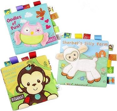 HOWADE Libros de ropa para bebé, tela no tóxica, libro suave ...