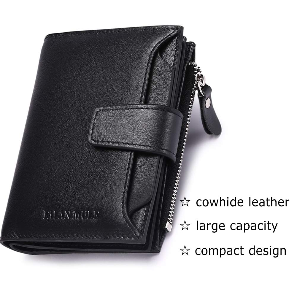 mens wallet 3 id windows real leather trifold short well design