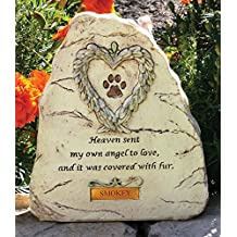 Banberry Designs - Personalized Pet Remembrance Stone With Engravable Plate