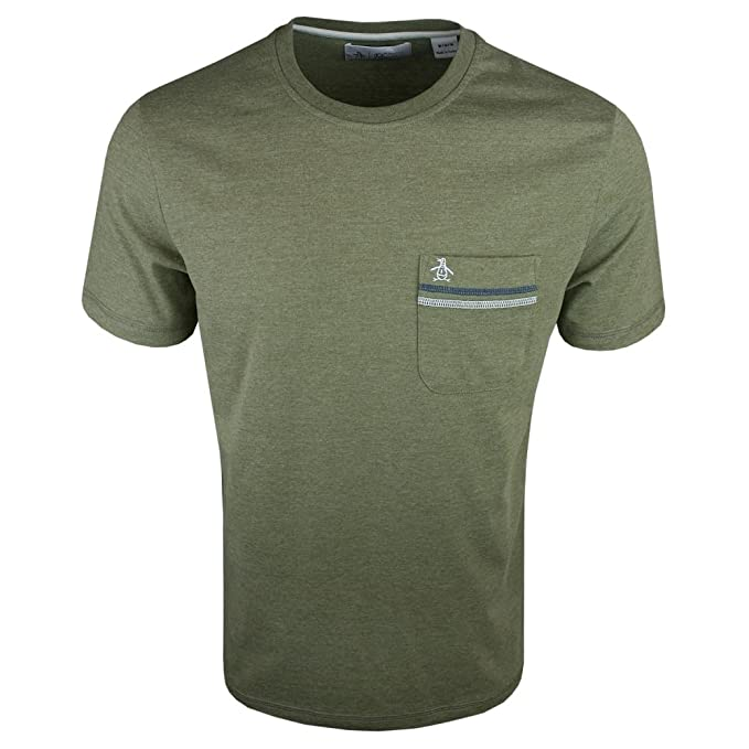 Original Penguin OPKS7037, Camiseta Para Hombre, Verde (Burnt ...