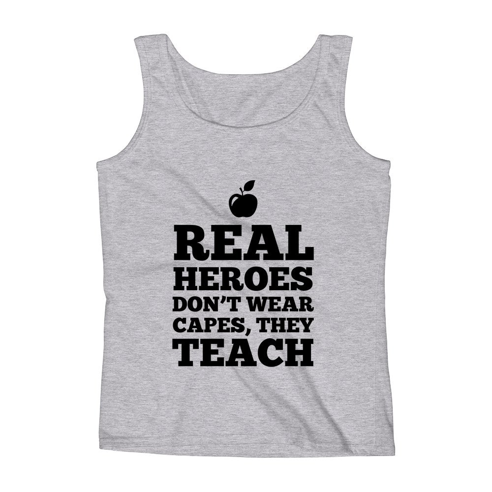 They Teach Unisex Premium Tank Top Mad Over Shirts Real Heroes Dont Wear Capes