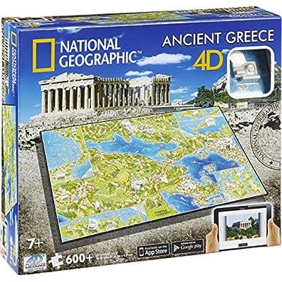 Grecia Antica 4d Tempo Paesaggio Urbano National Geographic Puzzle 600 Pezzi Et 7plus