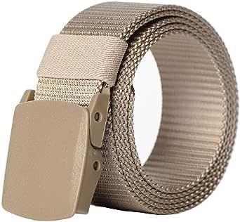 Men's Outdoor Belts Nylon Canvas Breathable Military Tactical Men Waist Belt With Plastic Buckle