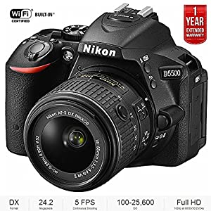 Nikon D5500 DX-format Digital SLR w/ 18-55mm VR II Black 1567B - (Certified Refurbished) + 1 Year Extended Warranty