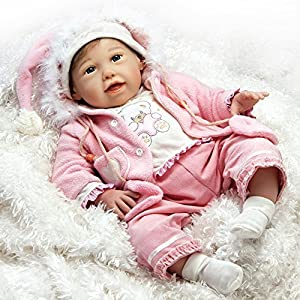 Paradise Galleries Lifelike Realistic Reborn Baby Doll, Cuddle Bear Bella Doll, 21 Inch Gentletouch Vinyl Doll