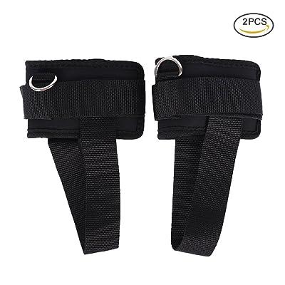 Runacc rembourré Fitness Sangle de cheville Premium Training Sangles de cheville durable d'exercice Menottes de cheville avec des Sangles à pédale pour jambes, ABS et les exercices de Fessiers, Lot de 2,
