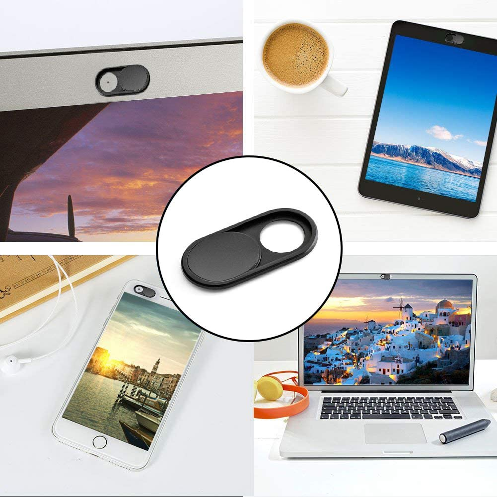 Black Webcam Cover Senhomtog Ultra Thin 0.025In Metal Web Camera Cover Slide Laptop Camera Cover Slide for MacBook Pro Laptops Smartphone Mac PC Tablets Protect Your Privacy and Security