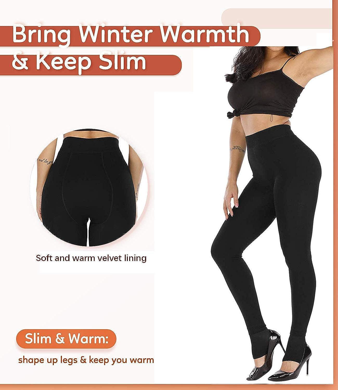 jambi/ères dhiver thermo pour femmes avec int/érieur en polaire douce jambi/ères /élastiques,1Pcs TOPTETN Jambi/ères thermiques chaudes pour femmes pantalon en laine polaire