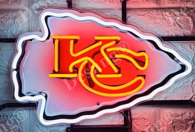 Desung 18x14 Kansas City Sports Team Kc Chief Neon Sign Light