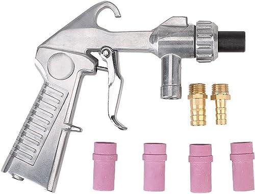 Sandblaster Gun Air Siphon Sand Blasting Gun with Iron Ceramic Nozzles Kit