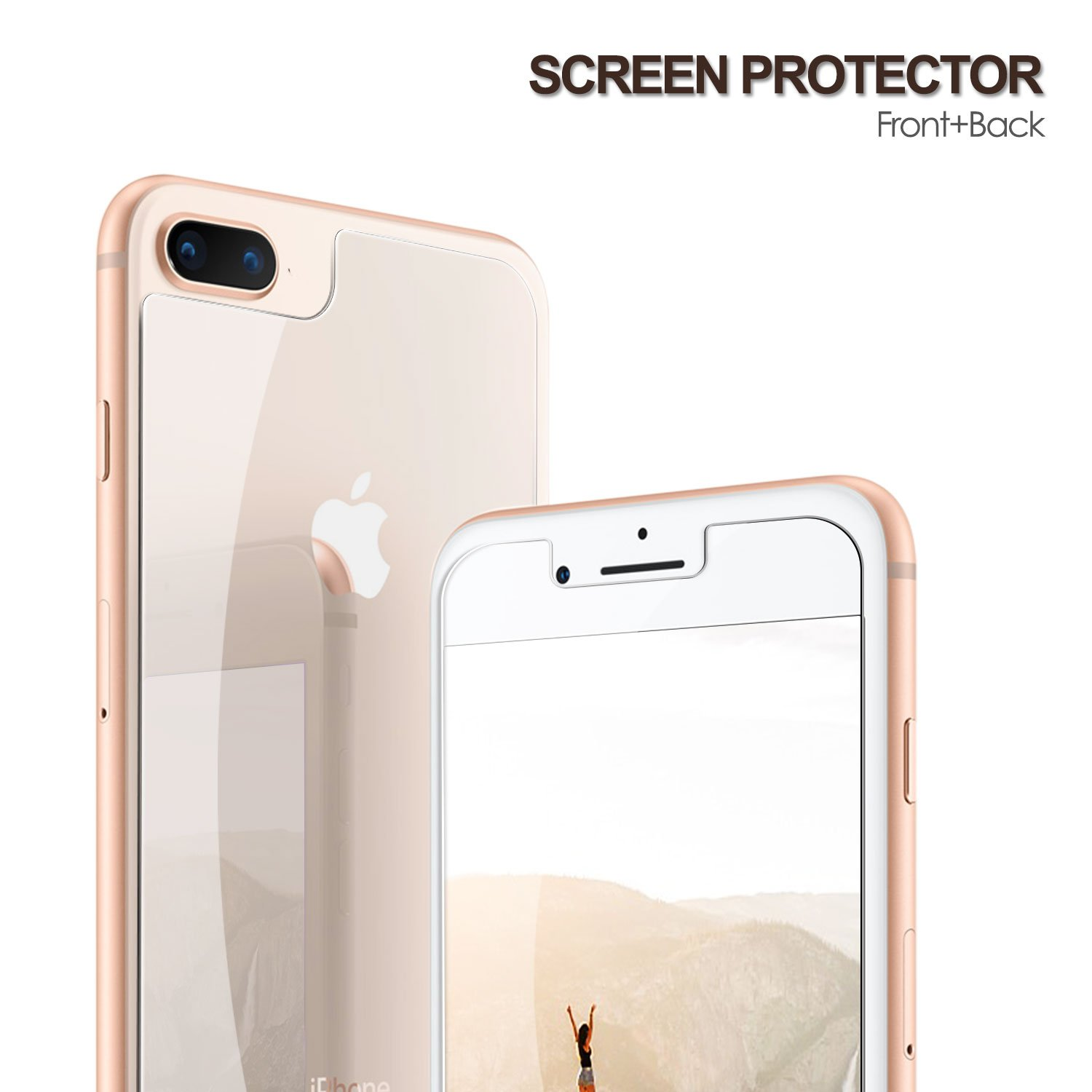 the best attitude e0c75 f1f37 iPhone 8 Plus Front and Back Glass Pack of 2|Tempered Glass with Accurate  Touch|Anti-Scratch 5.5 Inches iPhone 8 Plus Glass Screen Protector, ...