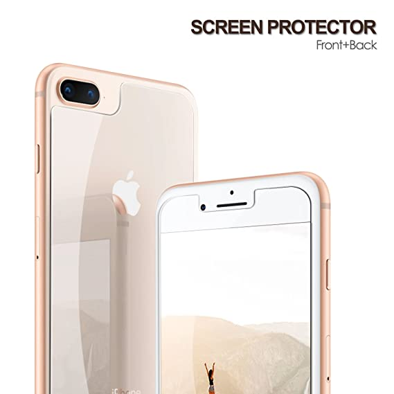 sale retailer 20452 61fd2 Amazon.com: iPhone 8 Plus Front and Back Glass Pack of 2|Tempered ...