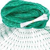 Augshy Green Anti Bird Net 13x 33 Feet 100 Pcs Nylon Cable Ties, Protect Fruit Trees Gardens Vineyard
