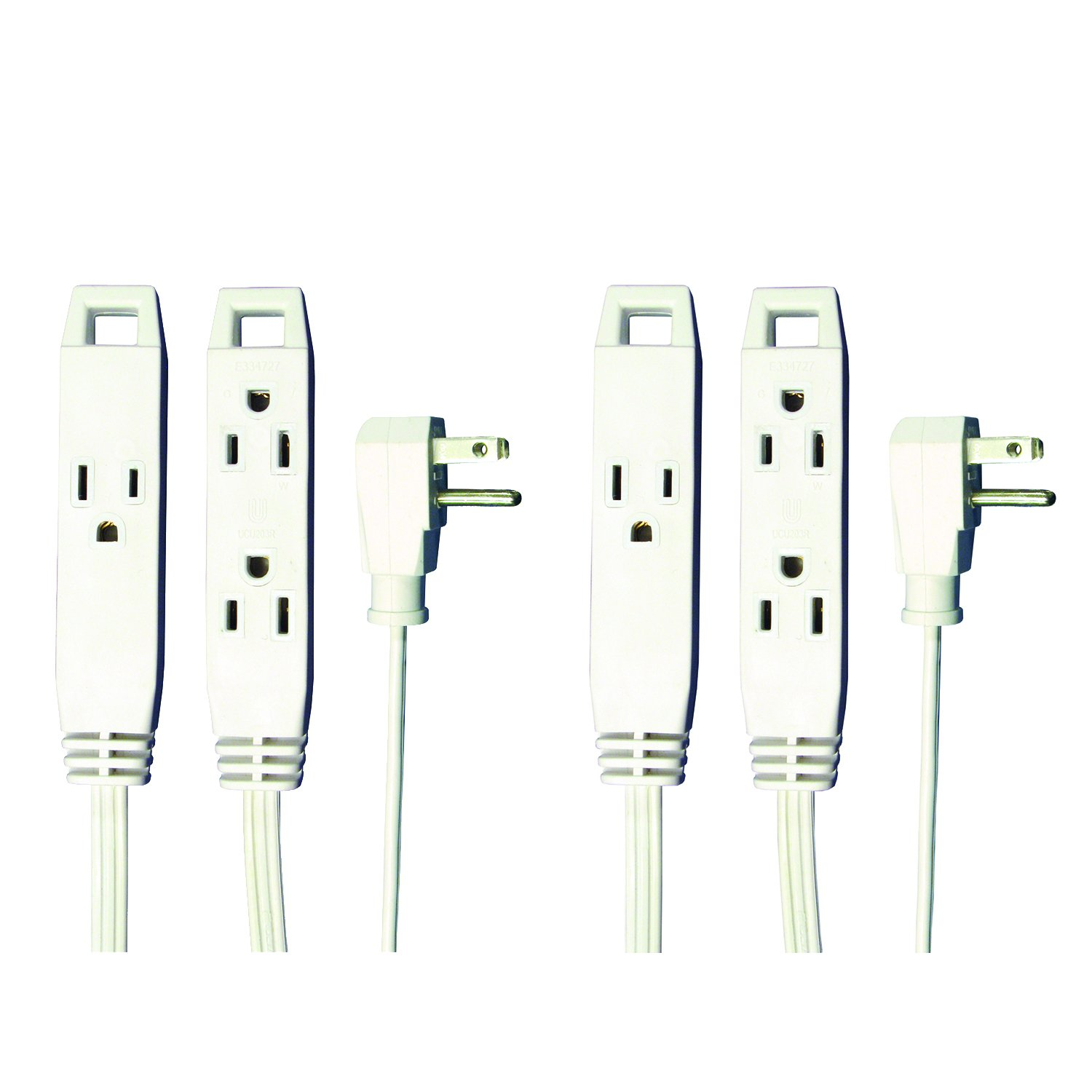 Axis 45505 3-Outlet, 8-foot Indoor Extension Cord - 2-pack