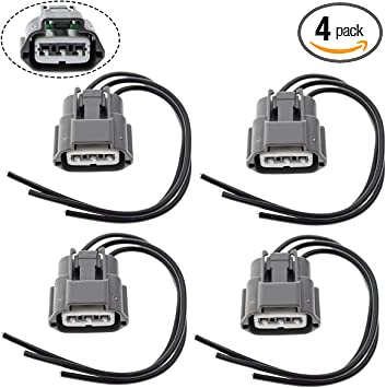 amazon.com: motoall ignition coil connector plug wire harness pigtail wiring  loom 3-wire female for nissan infiniti suzuki j48817102 645-787 - 4pcs:  automotive  amazon.com