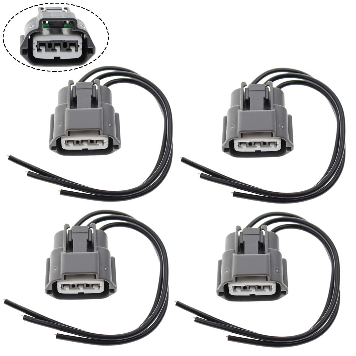 MOTOALL Ignition Coil Connector Plug Wire Harness Pigtail Wiring Loom 3-wire  Female for Nissan Infiniti ...