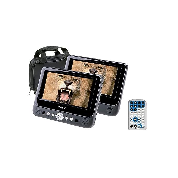 Nevir NVR-2749DVD - Kit DVD portátil con 2 pantallas de 9