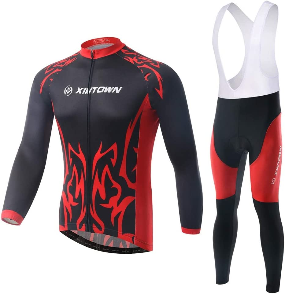 Men/'s Cycling Jersey Long Sleeve Breathable Team Bike Sports Tops Spring Autumn