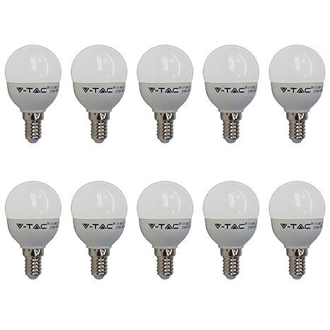LED Birne 10-er SET 250 Lumen E14 3W 2700K V-TAC 180/° Abstrahlwinkel Warmwei? Entspricht 25W