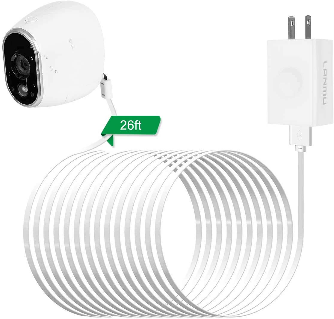 LANMU Power Adapter for NETGEAR Arlo Security Camera,Replace Lithium Battery ...