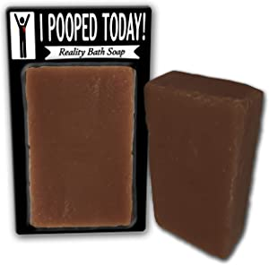 I Pooped Today Soap Chocolate Bath Soap Poop Gags for Women Men Chocolate Novelty Soap Secret Santa Unisex White Elephant Stocking Stuffers for Men Retirement Gags Over-The-Hill Birthday