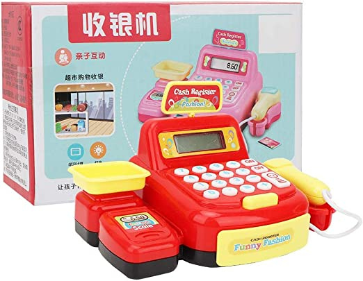 Woyisisi Caja registradora Juguete Supermercado simulado Caja registradora electr¨®nica Jugar a los Juguetes Pretender el Papel del Regalo para ni?os(01): Amazon.es: Hogar