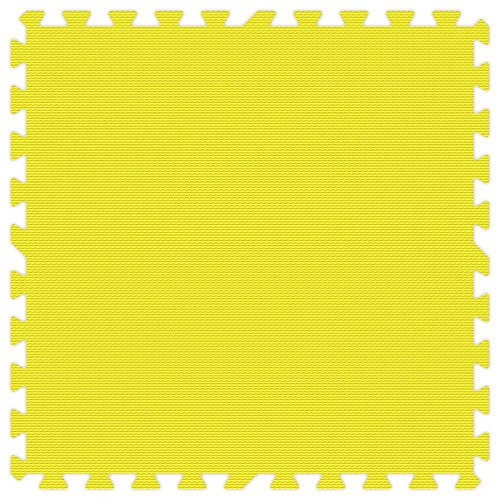 yellow 24 in. x 24 in. Comfortable Mat (100 sq.ft. / Case) by Groovy Mats