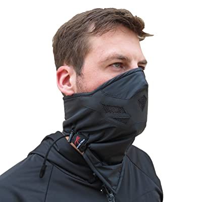 Half Face Mask for Cold Winter Weather. Use this Half Balaclava for Snowboarding, Ski, Motorcycle. (Many Colors)(Black): Clothing