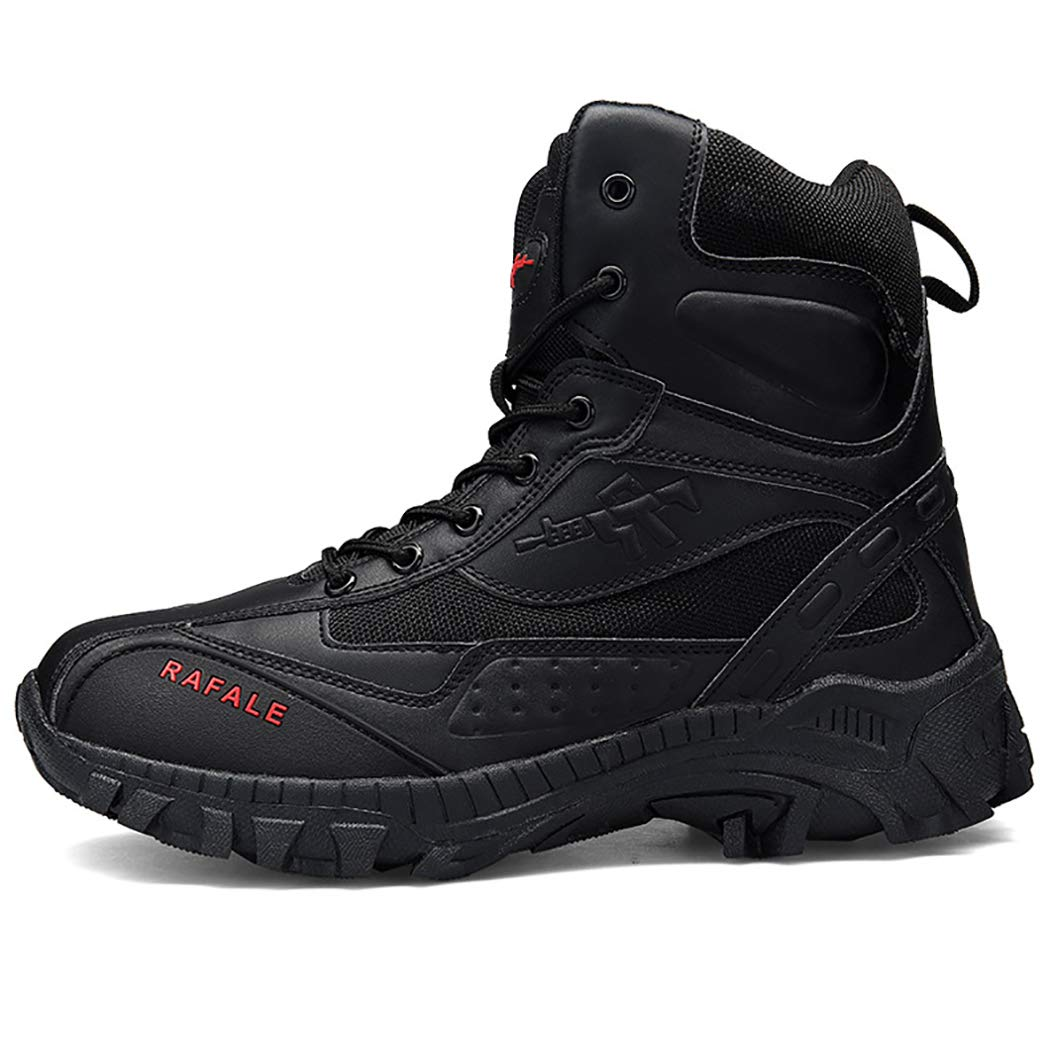 Mzq-yq Taktische Stiefel Taktische Schuhe Sommer Outdoor Desert Army Fan Hoch, um Desert Stiefel zu helfen Herren Größe 44,45