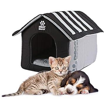 Bloomma - Cama para Gatos y Mascotas, diseño de casa Kitty para Exteriores, Muy Grande, Nido de Gato, Interior portátil, pequeño Animal de compañía.