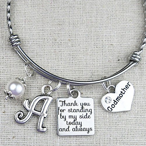 Gift For GODMOTHER Personalized Godmother Birthday Bangle Thank You Standing By My