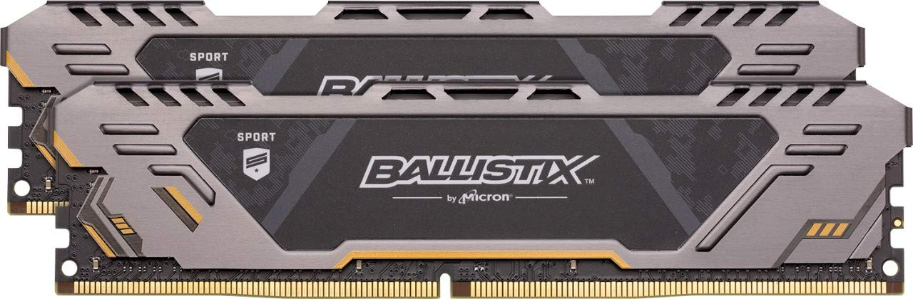 Crucial Ballistix Sport AT 3200 MHz DDR4 DRAM Desktop Gaming Memory Kit 32GB (16GBx2) CL16 BLS2K16G4D32AEST
