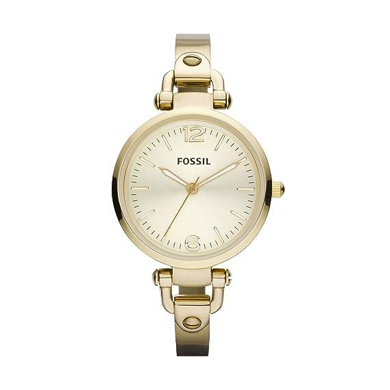 Fossil Georgia ES3084 - Reloj analógico de cuarzo para mujer, correa de acero inoxidable color