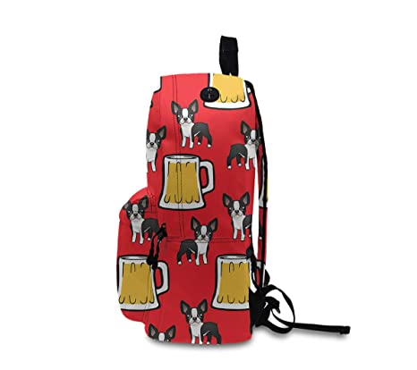 4c6d941f908e Amazon.com: Happy New Year Boston Terriers With Beer Rucksacks With ...