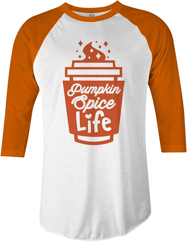 Threadrock Pumpkin Spice Life Unisex Raglan T-Shirt