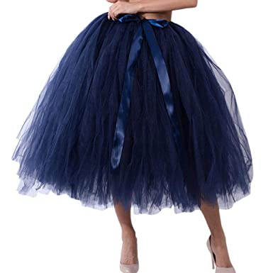 Falda de Tutu Mujer,SHOBDW Malla de Tul En Capas de Dama de Honor Mullido Regalo de La Fiesta de Bodas Traje de Baile de Princesa Falda Burbuja de ...