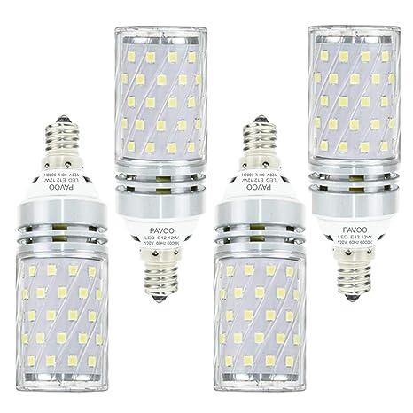 Pavoo E12 Led Light Bulbs 12w Led Candelabra Bulbs 100 Watt