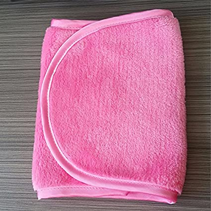 Sunsbell Makeup Eraser Makeup Remover Towels Make up Cleaning Towel Cloth Micro Fibre -Pink