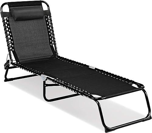 Goplus Portable Lounge Chair