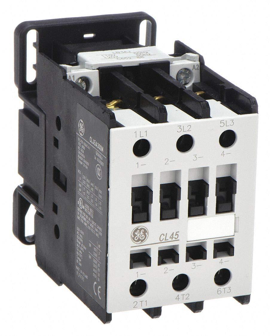 of Poles 3 Ge 120VAC IEC Magnetic Contactor; No 34 Full Load Amps-Inductive Reversing: No 1 Each
