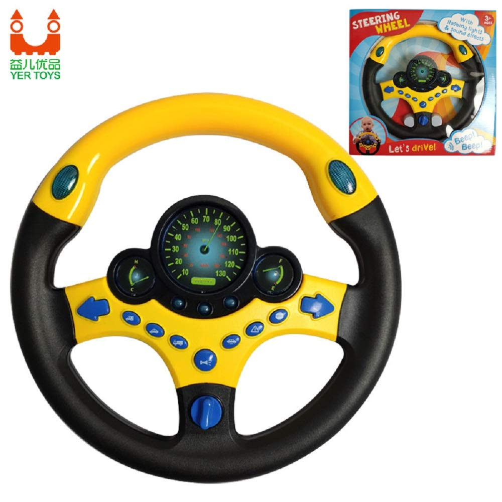 Simulated Driving Toys Steering Wheel Toy Co-Pilot Toy Steering Wheel