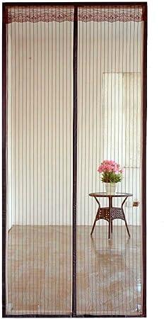 Xiaoxi Mosquitera Puerta Exterior Corredera/con Iman/con Marco/MagnéTica, con Malla Super Fina para Dejar Pasar El Aire Fresco,110 * 210cm: Amazon.es: Hogar