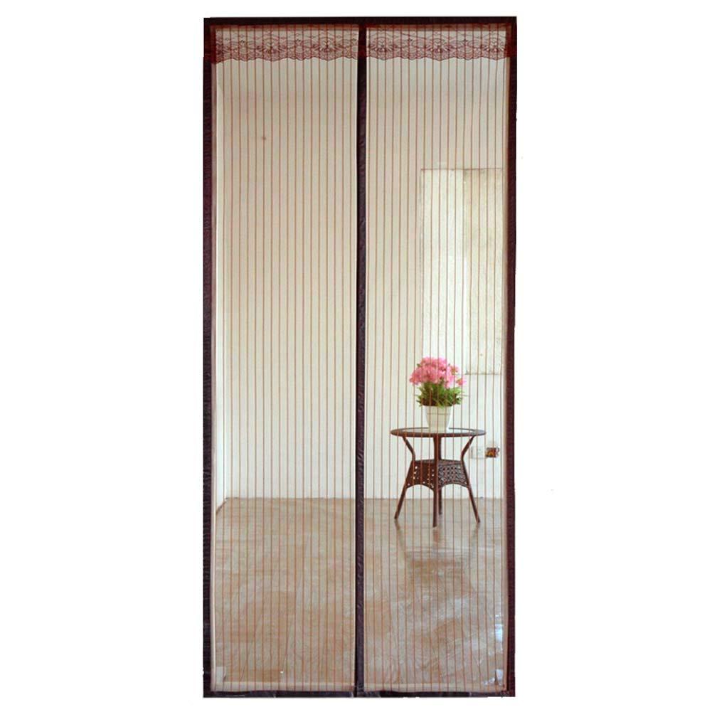 Xiaoxi Mosquitera Puerta Exterior Corredera/con Iman/con Marco/MagnéTica, con Malla Super Fina para Dejar Pasar El Aire Fresco,80 * 200cm: Amazon.es: Hogar