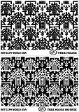 FlexiStamps Texture Sheet Set Jill MacKay's Tree House (Including Tree House and Tree House Inverse)- 2 pc.