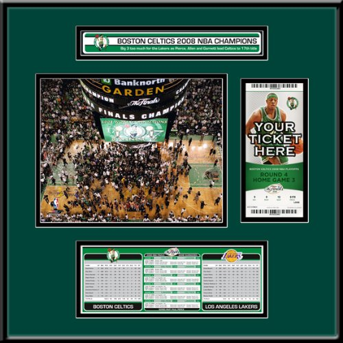 2008 NBA Finals Ticket Frame Jr - Boston Celtics Champions by That's My Ticket